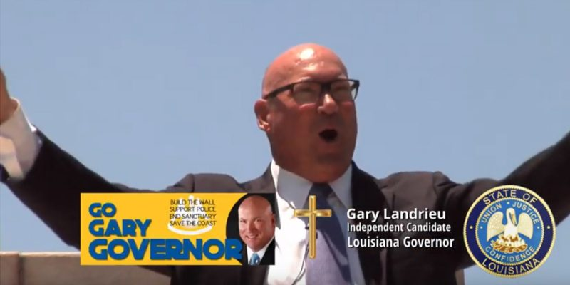 Who's The First Gubernatorial Candidate To Go Up On TV? Why, Gary Landrieu, Of Course!