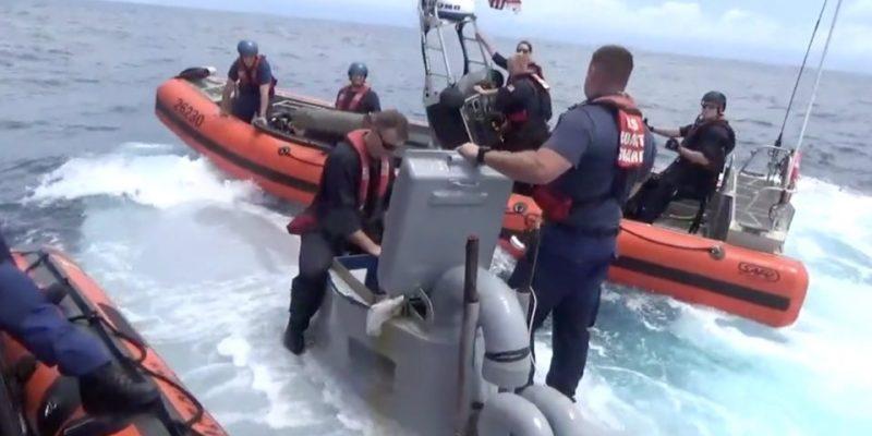 VIDEO: Watch Coast Guardsmen Board A Speeding Drug Running Submarine