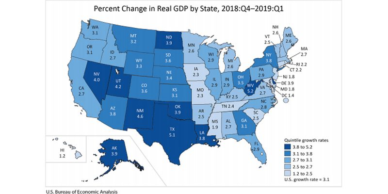 Louisiana's Economy Did Pretty Well In The 1st Quarter, But Not Compared To Texas