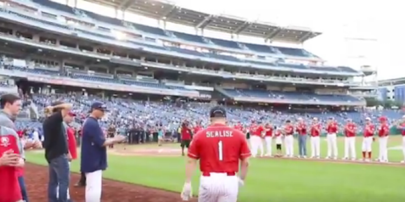 Great to see Steve Scalise back on the field [videos]