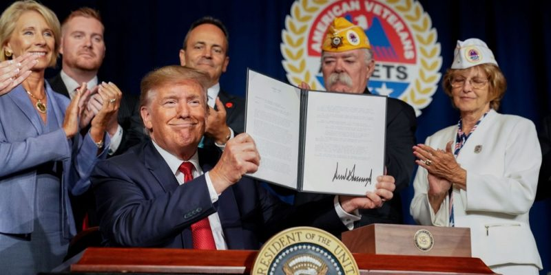 Trump Signs Executive Order Forgiving Disabled Veterans' Student Loans