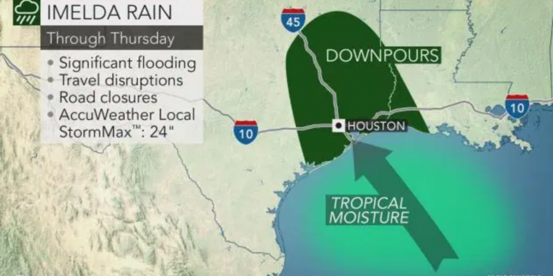 Flashflood warnings continue in southeast Texas after Imelda made landfall