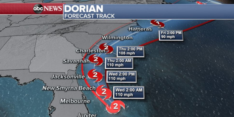 Dorian veers off Florida coast, expected to hit Georgia, Carolinas next [video]