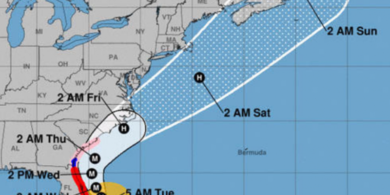 Hurricane force winds expected to hit North Carolina Thursday