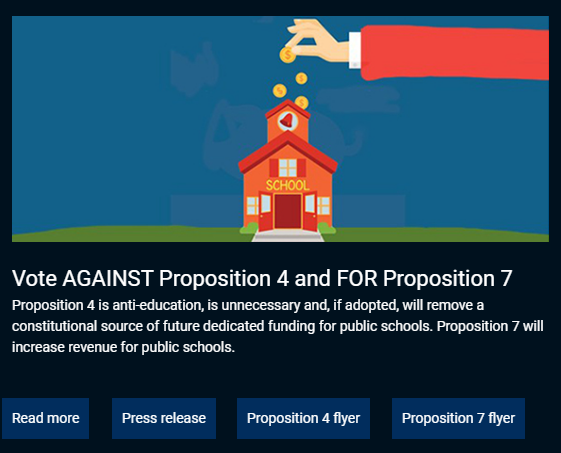 TSTA website opposing proposition 4
