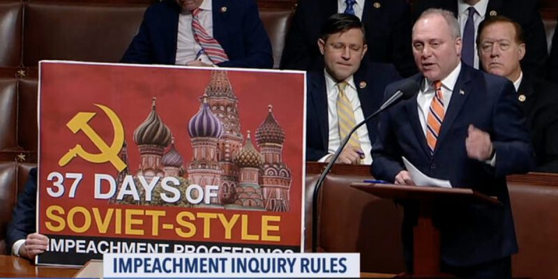 VIDEO: Steve Scalise Hammers Away At Nancy Pelosi's Impeachment Mess