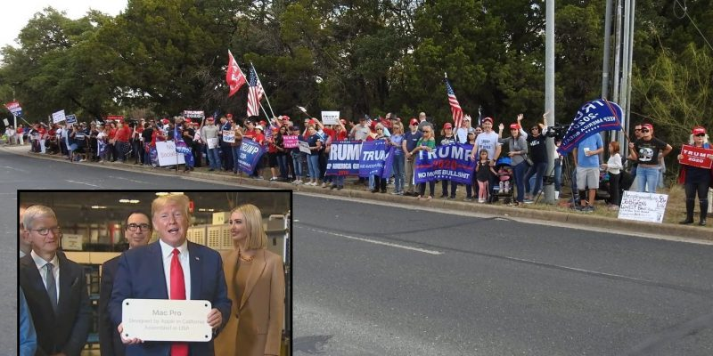 Trump Celebrates Manufacturing Miracle In Austin; Republicans Outnumber Liberal Demonstrators