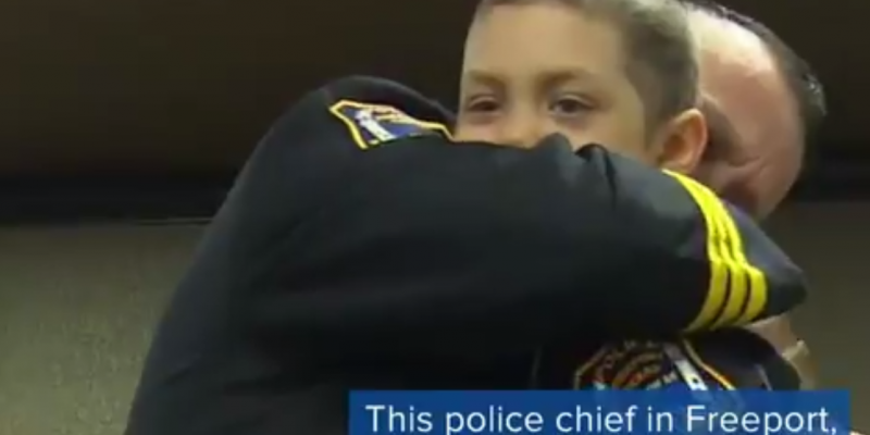 Heartwarming: Police chief swears in new member of force–6 year old girl [video]