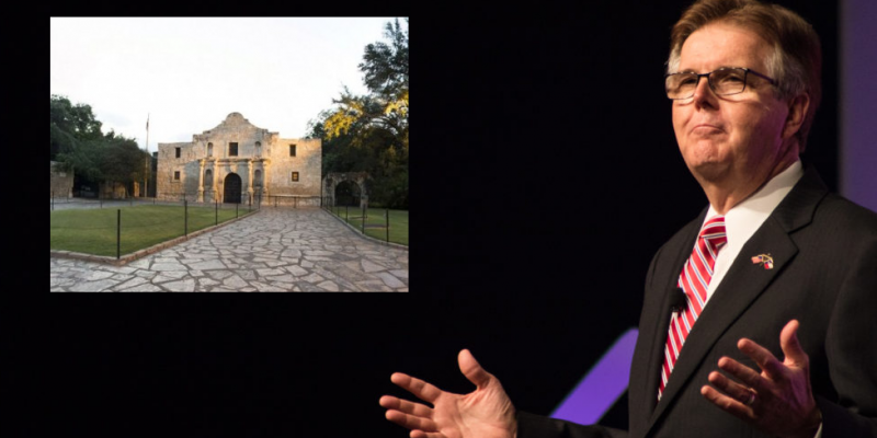 Patrick: Alamo Renovation Critics Not 'Liars Or Racists'
