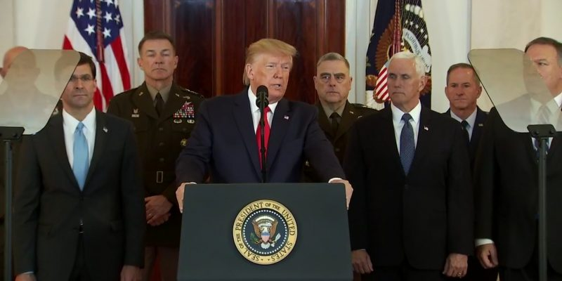 President Trump Addresses Nation, Calls For Peace With Iran