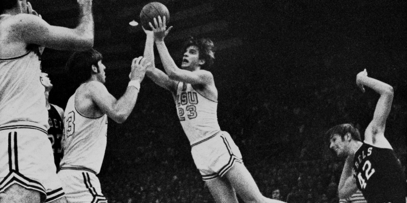 THEY'RE PISTOLS: Burrow, Maravich Intersect in NCAA Record Books