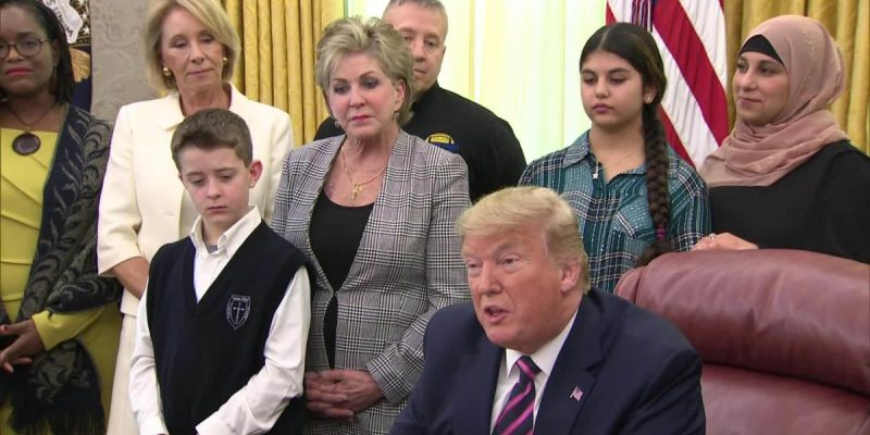 President Trump Moves To Protect Prayer In Public School