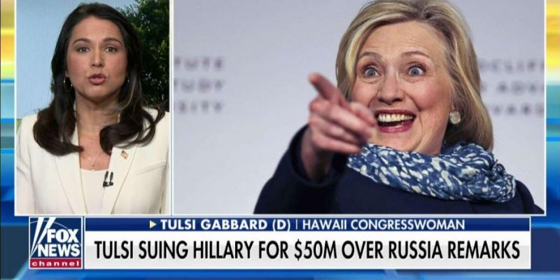 Tulsi Gabbard Files $50M Suit Against Hillary Clinton