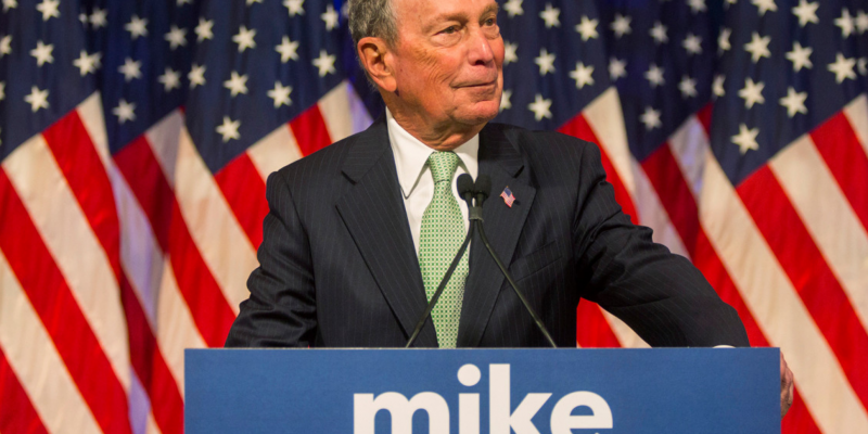 Bloomberg spends an unprecedented $400 million of his own money to date
