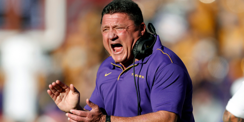 EDDIE MONEY: Coach Orgeron's Redemption Story Rolls to the Bank