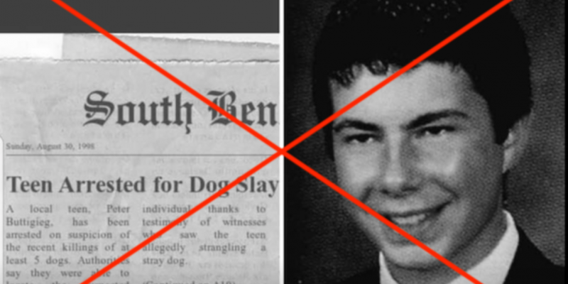Fake news article clip with real news masthead suggests Buttigieg killed dogs. He didn't.