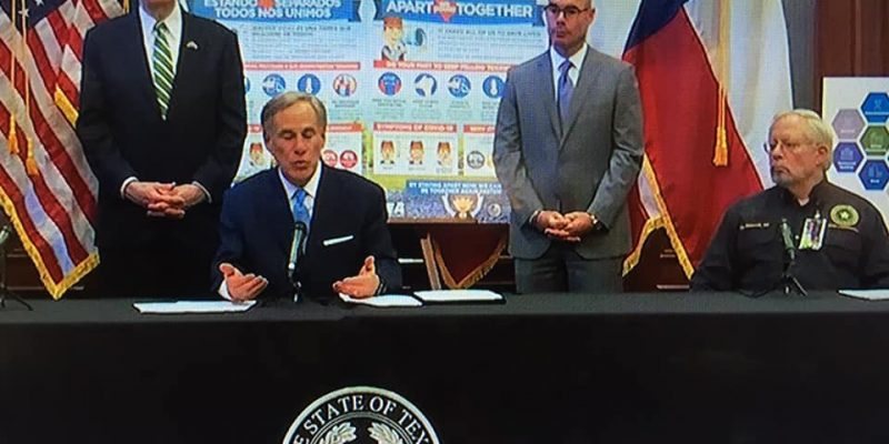 Texas Governor Issues Partial Shelter-In-Place Order; Allows For Religious Services