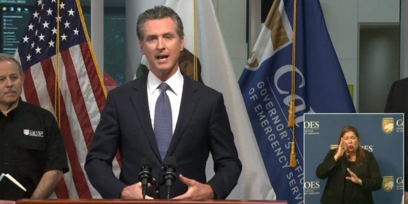 "California Governor Issues Statewide ""Stay at Home"" Order"