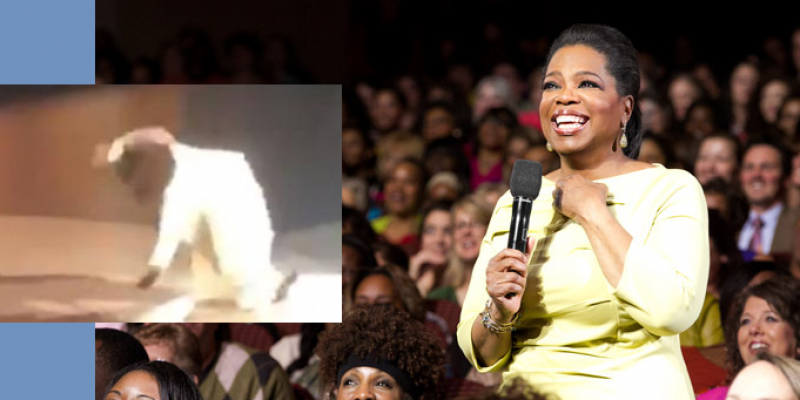 Oprah's Message On Spiritual Balance Begins With On-Stage Fall