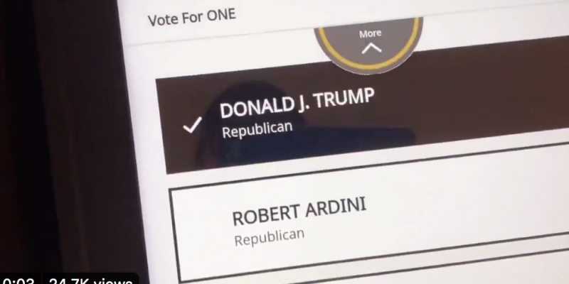 California voter shows how Trump appears hidden on electronic ballot [video]