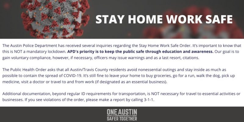 COVID-19 Orders Now Voluntary? They Are In Austin