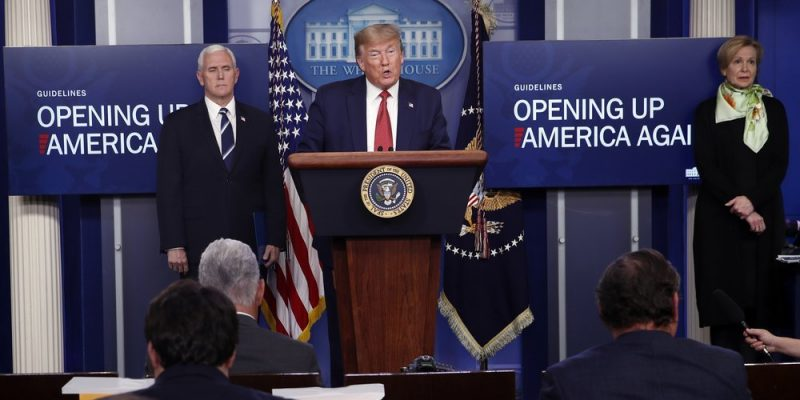 """REPORT: Trump Administration Introduces """"Opening Up America Again"""""""