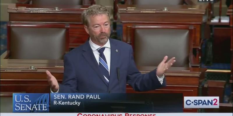 Sen. Rand Paul Returns to Work, Calls for Reopening U.S. Economy (VIDEO)