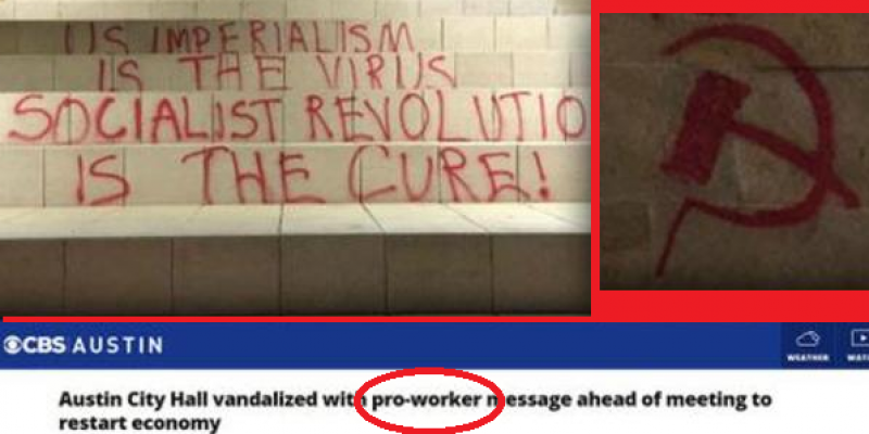 Media: It's Not Communist Graffiti, It's 'Pro-Worker'