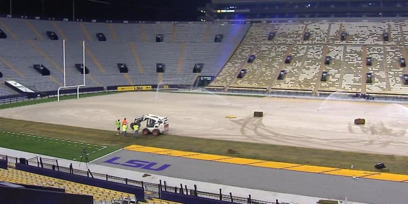 TEARING IT UP: Tiger Stadium Turf Gets Long Overdue Facelift
