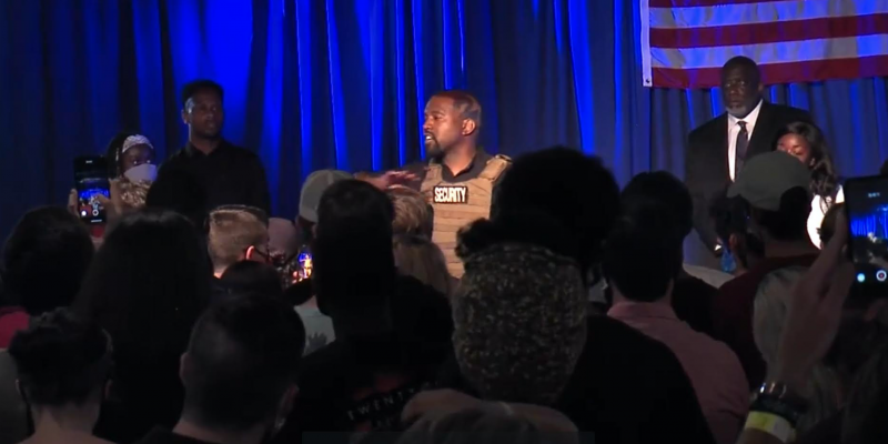 Kanye West Shares Emotional, Pro-Life Message at First Campaign Event