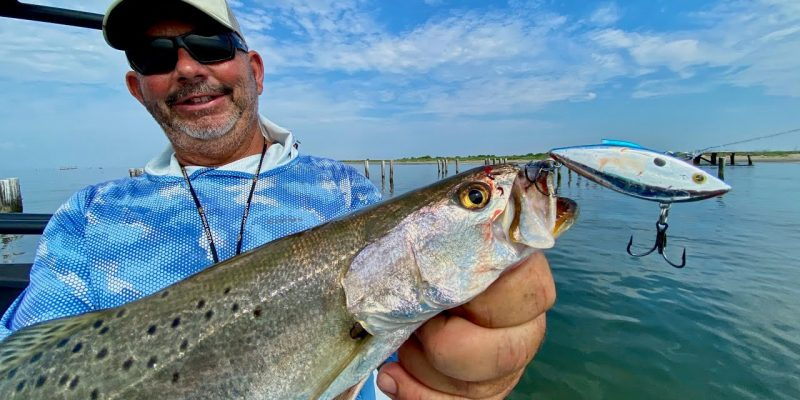 MARSH MAN MASSON: BLAST on the BEACH As The Speckled Trout Arrive!