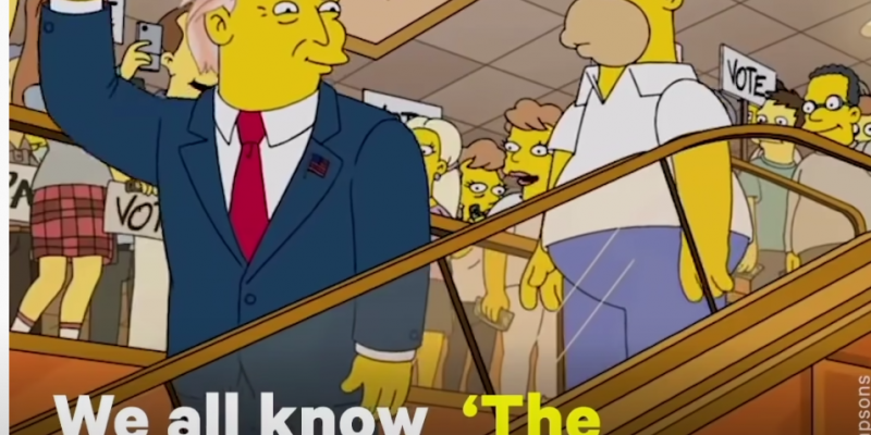 On the issue of the Simpson cartoons appearing to predict U.S. events [video]