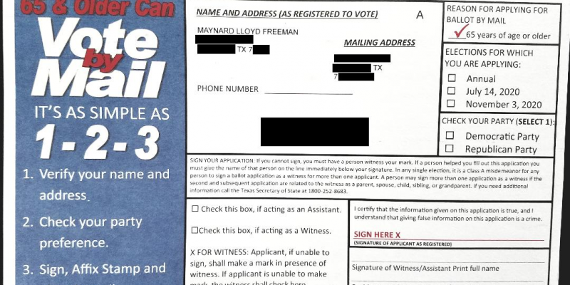 ANALYSIS: Why 'Simple As 1-2-3' Mail-In Voting Scheme Was Put On Ice In Houston