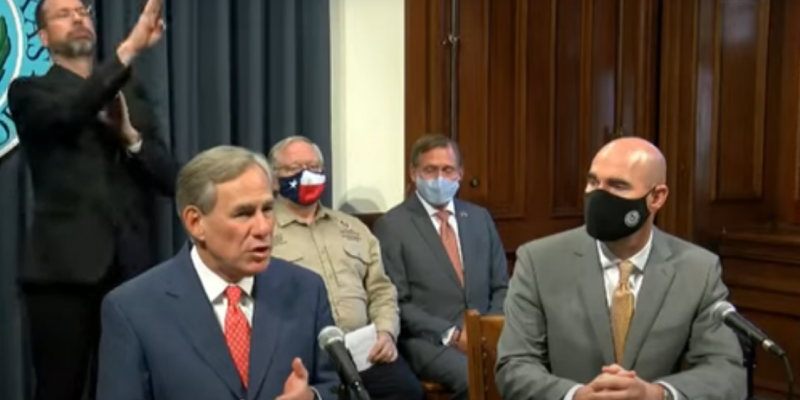 Texas Governor: COVID-19 Capacities Increased, South Texas Contains 'Danger Zones'