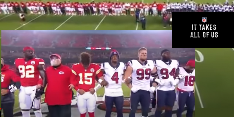 Ratings Down 16%, Fans Jeer As NFL Kickoff Becomes BLM Propaganda