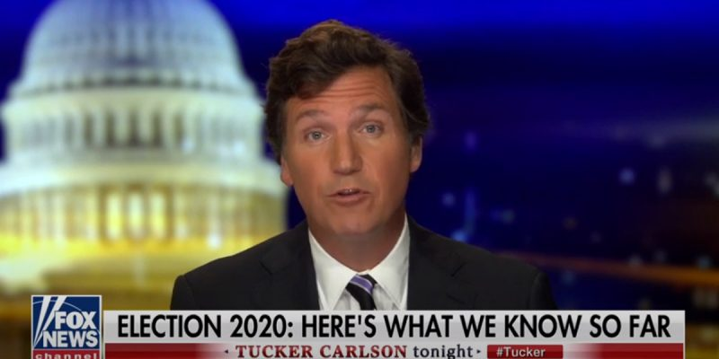 VIDEO: Tucker Carlson Calls Out Media Shutuppery Over The Election
