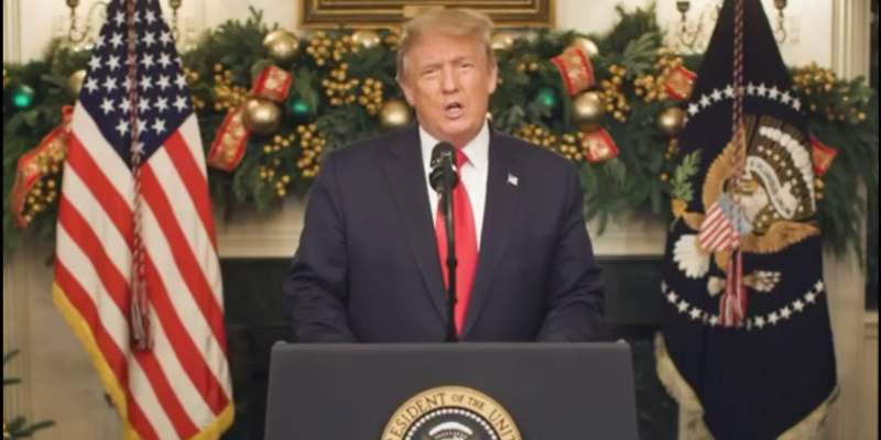 WATCH: Trump Scolds Congress for COVID Stimulus Bill (VIDEO)
