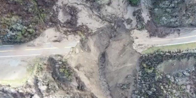 Mudslide damage near Big Sur is mind blowing [video]