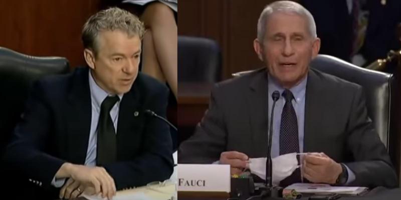 Rand Paul Criticizes Dr. Fauci Over Mask Mandate; Newly Uncovered CDC Document Shows Adverse Effects