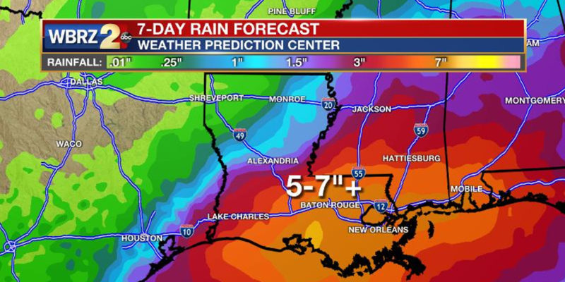 It's Reasonably Likely The Baton Rouge Area Could See More Flooding This Weekend