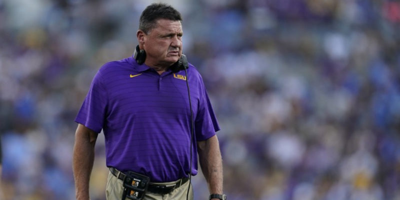 LSU Fans Have Turned On Ed Orgeron, And It Seems Like The Die Is Cast